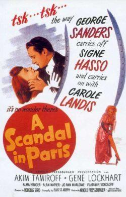Escándalo en París (A Scandal in Paris)