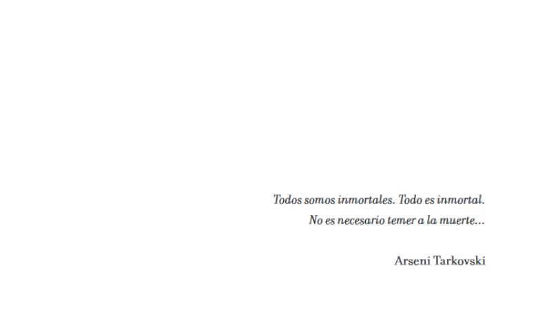 Andréi Tarkovski. Estudio de un sueño #Yomequedoencasa