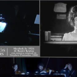 Trío Arbós. Proyección de la película Sherlock Jr. (1924), de Buster Keaton. Música de Stephen Prutsman