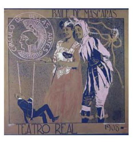 Alberti, Fernando. Accésit en el concurso de Carnaval de 1908. Una de las imágenes que ilustran el proyecto Surrealistos.