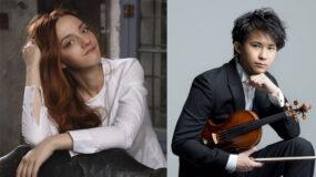 Fumiaki Miura (violín), Varvara (piano)